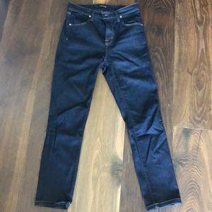 JBrand Maria high-waisted skinny jeans, dark blue